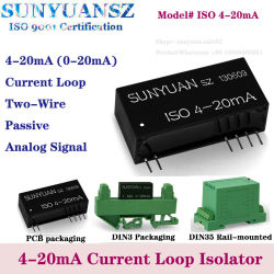 La ISO de dos hilos de 4-20 mA de bucle de corriente pasiva Powered Aislador/Convertidor 4-20 mA
