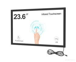 23,6 pouces écran tactile de 10 points infrarouge avec un verre pour la machine en libre-service