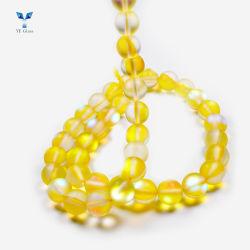 Coloridos cordones Rondelle personalizado microesferas de vidrio de prendas de vestir