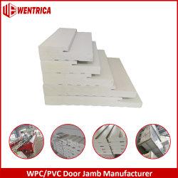 عضادة باب PVC مقاس 7/4 بوصة قابلة للاحتواء من الخارج قابلة للاحتواء من قبل العميل (WPC)/4 رافعة الباب المركبة من نوع PVC (دائرة ظاهرية دائمة) ناعمة قياس 6 بوصات / Brickmold/astagal/Mull Post مع LVL