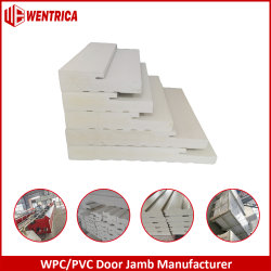 """7 1/4"""" el estándar estadounidense Stainable WPC Exterior de la jamba de la puerta de PVC/4 pulgadas de 6pulgadas compuesto de PVC liso puerta Jamb/Brickmold/Astragal/Mull Post con LVL"""