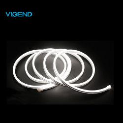 24V 9.6W/m 7X14mm Neon flexible resistente al agua IP67 de la barra de luz LED