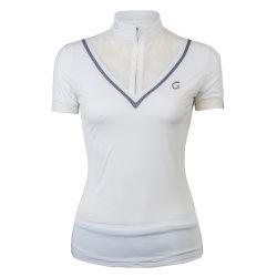 China-Fabrik der Großhandelsfrauen jede mögliche Größe färbt Spitze gesticktes Polo-Hemd