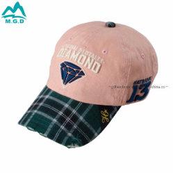 L'annata strutturata all'ingrosso del cotone di modo ha lavato il cappello tagliato afflitto