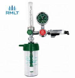Regulador de oxígeno con humidificador