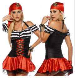 Wäsche-Spiel-konstanter Piraten-Kostüm-Halloween-ParteiRole-Play