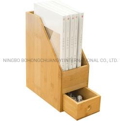 Les organisateurs de bambou en bois Bureau dossier papier Bac document avec tiroir