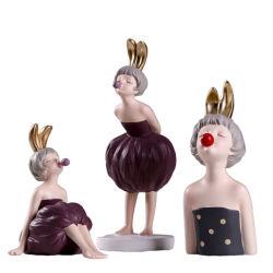 حديث بيتيّ زخرفة طاولة فنية تمثال راتينج يفجّر فقاقيع بنت زخارف