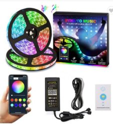 La musique Bluetooth Bande LED SMD 5050 30 LED/Compteur de jeu de 5 m, Sound Control Smart Bande LED RVB de 16 millions de changement de couleur avec une excellente qualité pour Noël et de la partie