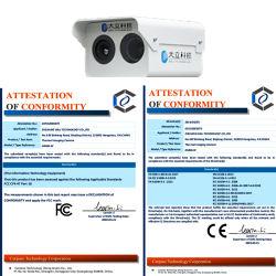 *Ai Detecção Inteligente e monitorização Infrared Câmaras de Imagens Térmicas são usados em empresas de proteção de segurança DM60-WS1