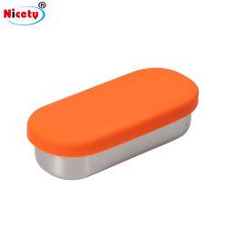 140ml de salsa Non-Disposable Embalaje de la Copa de condimentos Acero Inoxidable De tin/Salsa Tiffin Caja con tapa de silicona