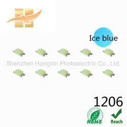 Epistar 칩 최신 판매 담청색 색깔 457-475nm 1206 SMD LED
