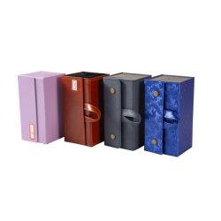 Nieuwe Stijl 4 van de Knoop van het Metaal van Pu Kartonnen Geval van de Glazen van Dienbladen het Veelvoudige