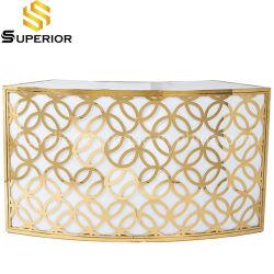 La barra de oro mayorista de mobiliario de lujo Tabla de barra de metal y el contador