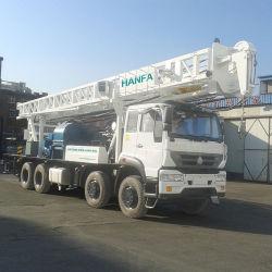 El HFC600 100m-600m de profundidad sobre camión pozo de agua equipo de perforación rotativa