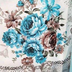 China 100% Polyester Stoff Blume gedruckt 3pcs Bettwäsche-Sets