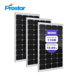 Module solaire 110W monocristallin 110WP PV Fabricant Fournisseur Multicrystalline Mono Module solaire photovoltaïque en silicium