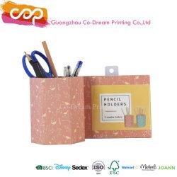 Caja de almacenamiento de material de papelería creativa personalizada titular de la pluma