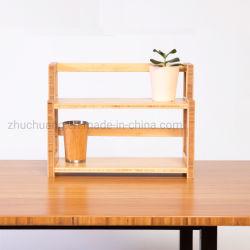 Una cremagliera di 2 della fila della mensola di legno dello scaffale di memoria libri semplice della visualizzazione (ZC-BS002-1)