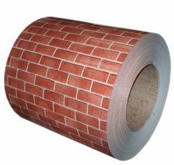 Filme de PVC com padrão de tijolos de aço laminado de bobina para Outdoor Decortaion Construção