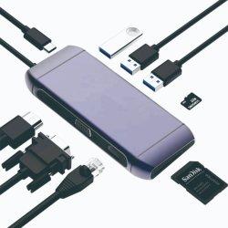 Diseño especial de aleación de aluminio en ambos extremos un hub USB de tipo C Cable VGA a HDMI Cable