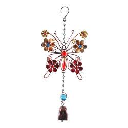 創造的な蝶庭はホーム庭の装飾のための携帯用金属の風チャイムを鳴らす