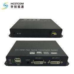 루프 및 DVI 출력 파이버 2개가 있는 1-CH DVI 입력 Optic Network