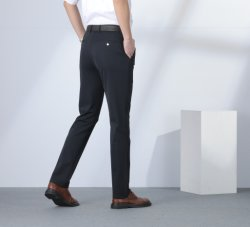 Epusen Banheira de vender o tricô confortável coreano respirável reta comercial formal calças de fato preto