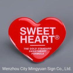 Cola de impresión de etiquetas de resina epoxi de alta calidad sticker adhesivo logotipo rojo de Amor