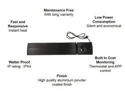 1200W IPX4 - Infrarouge Smart Chauffage de terrasse en plein air
