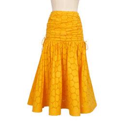 Los recién llegados de algodón de alta calidad quemados falda informal para mujer