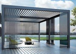 Système d'aluminium Pergola motorisé pour Zip Cafe/piscine/jardin Gazebo