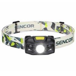 Capteur de rechargeable projecteur, la tête de lampe torche à LED avec 2PCS lumière rouge et l'interrupteur du capteur de mouvement, de grands pour l'exécution, camping, randonnée pédestre