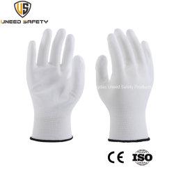 Mécanicien transparent blanc résistant en nylon enduit PU Palm de la sécurité des gants de travail de protection de la main
