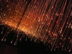 إضاءة ستارة شلال مياه من ألياف ضوئية حسية جانبية