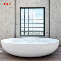 Gesundheitliche Ware-moderne kreisförmige feste runde freistehende Oberflächenbadewanne