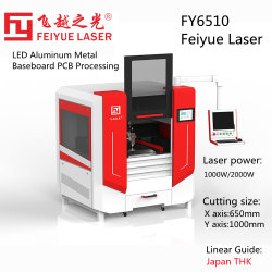 Fy6510 LED الألومنيوم لوحة الأساس المعدني PCB عاكس ليزر ألياف الماكينات لوحات CNC مجوهرات عالية الدقة من الفولاذ الطري س تيتانيوم ماكينة قطع ليزر معدنية