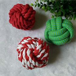 Precios baratos accesorios para mascotas Bola de la cuerda de algodón de juguete para perros y gatos