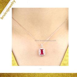 De Juwelen van de Halfedelsteen van de douane 9K 14K 18K namen de Gouden Geplateerde Synthetische Robijn van de Halsband van de Tegenhanger van Juwelen toe