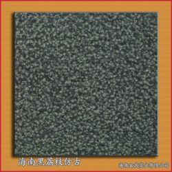 玄武岩の網の玄武岩の石が付いている黒い敷石の安い庭の飛石