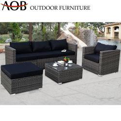 Ocio el chino moderno diseño sofá de 4 piezas con otomana patio jardín mobiliario de exterior