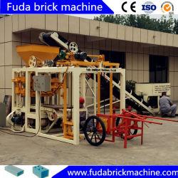 Sistema de construção o Qt4-24 máquina de moldagem do bloco oco no Gana