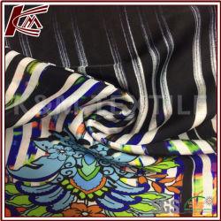 Motif de fleurs 50d imprimer 100% Polyester mousseline de soie satin