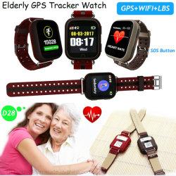 Personnes âgées multilingues GPS tracker Smart regarder avec de l'automne alarme D28