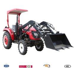 Jardín pequeño tractor de 30 CV de 4 ruedas motrices con cargador frontal