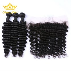 Wholesalr Mink/Remy cabello negro natural 1b# Onda profundo color