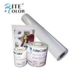 """240gsm de Papier Photo Brillant Minilab sec 6""""x65m pour Fuji Frontier DX100"""