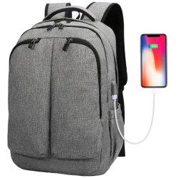 17 Zoll-Laptop-Rucksack-großer Arbeitsweg-Beutel mit USB-aufladenkanal