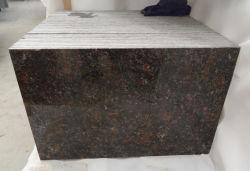 인기 있는 수입 광택 황갈색 화강암 바닥 타일