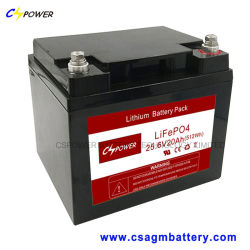 長い生命20yearsの24V20ahリチウム電池LiFePO4